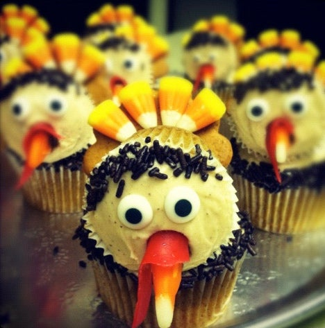 Larry the Turkey Cupcakes