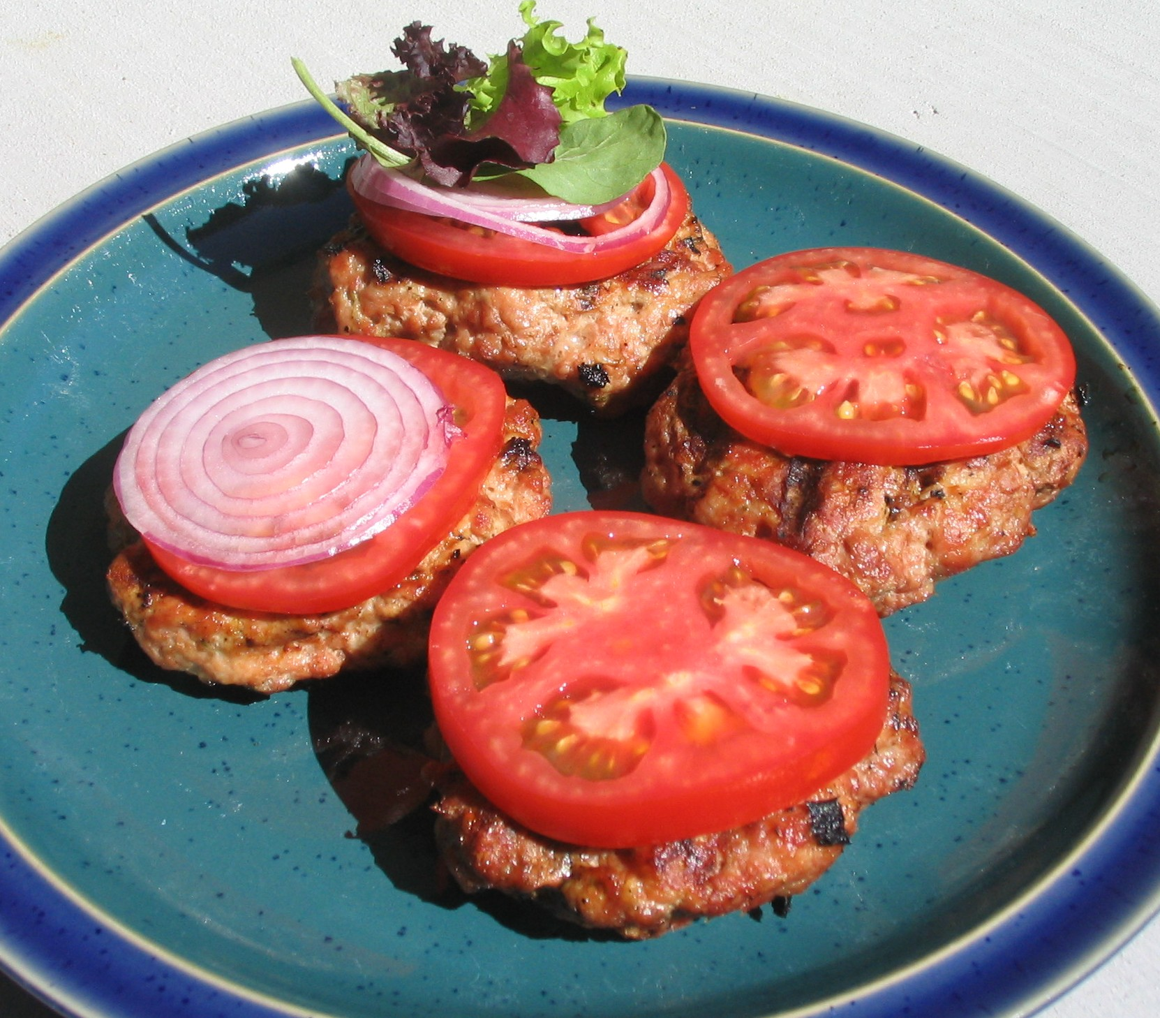 Garlic Rosemary Turkey Burgers