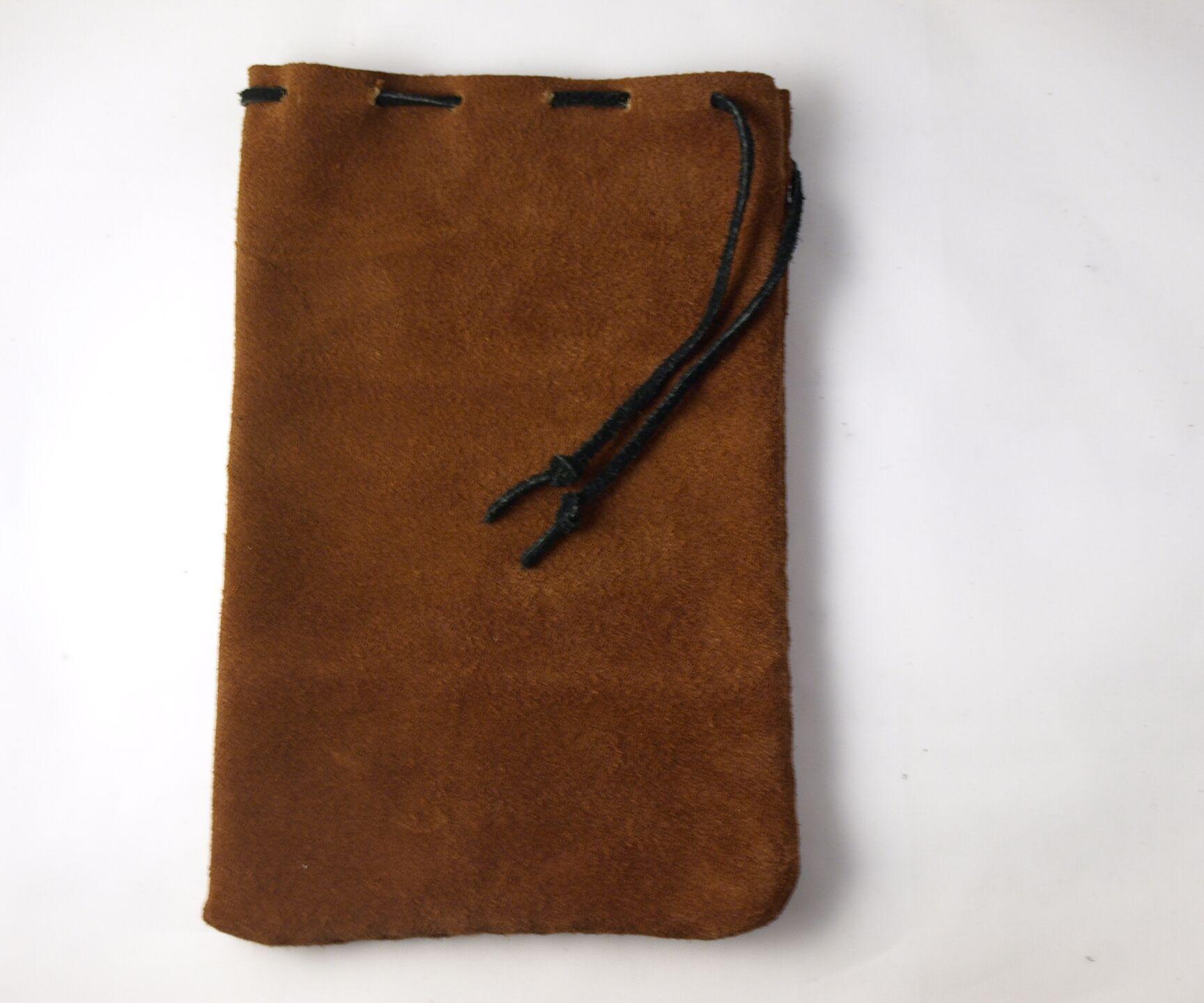 Suede Drawstring Bag