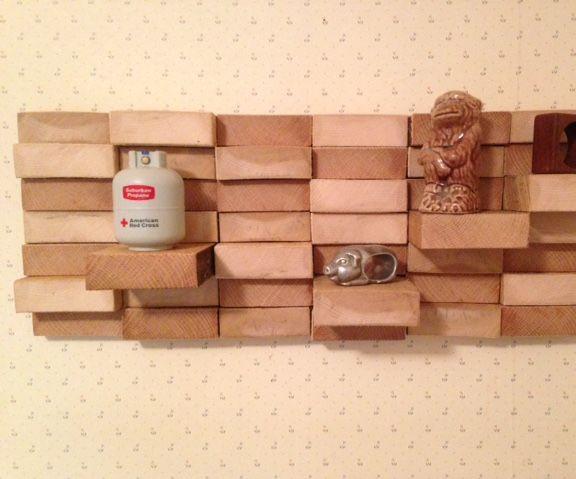 Wood Block Wall Hanging/shelf