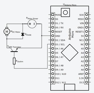 12v Motor Control With 5v Arduino And Npn Transistor As Speed Control Switch 4 Steps Instructables