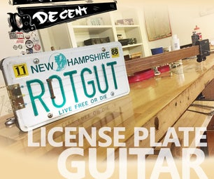 License Plate Slide Guitar