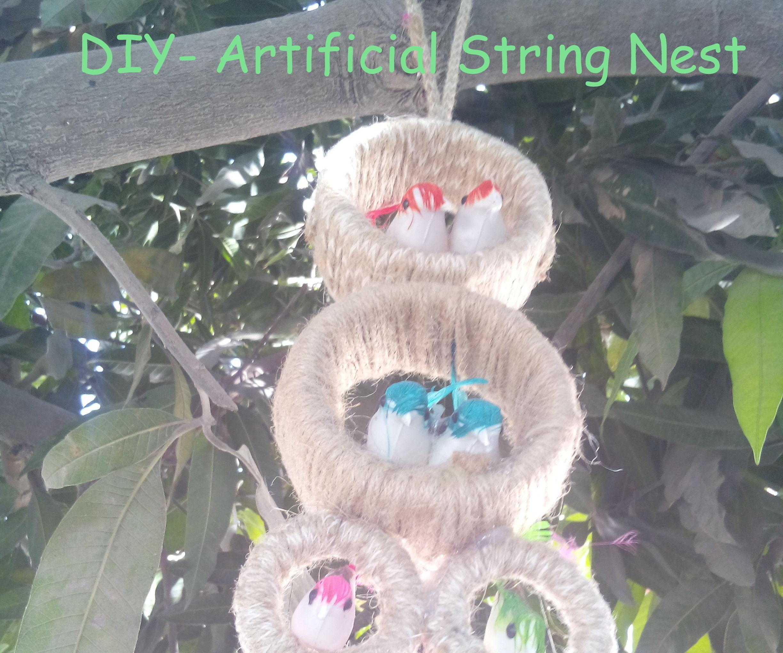 DIY- Artificial String Nest