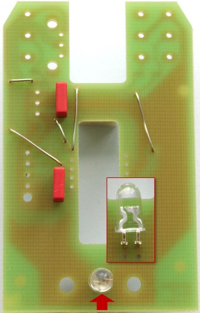 Solder the LED