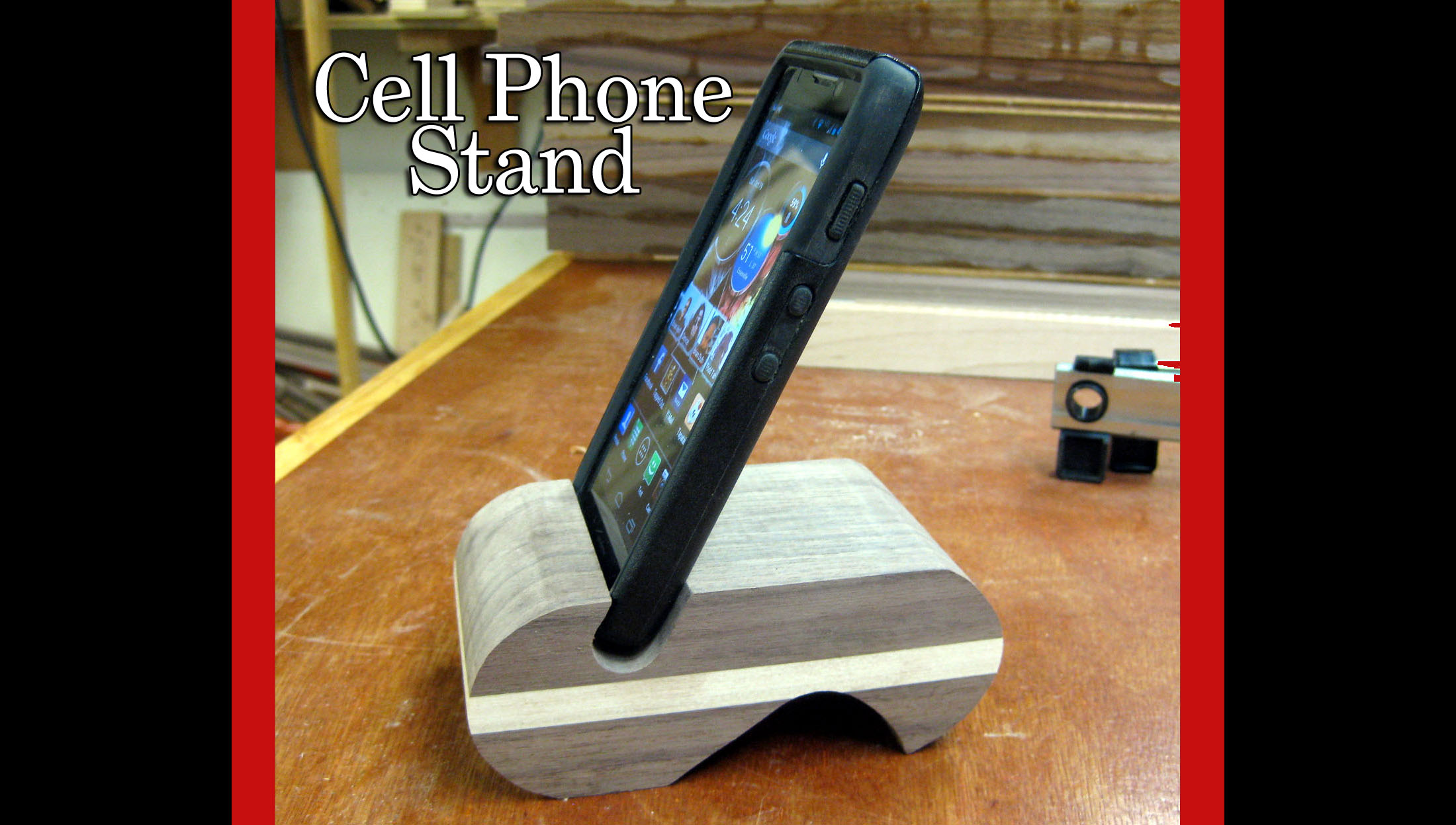 cell phone / iPhone Stand Project