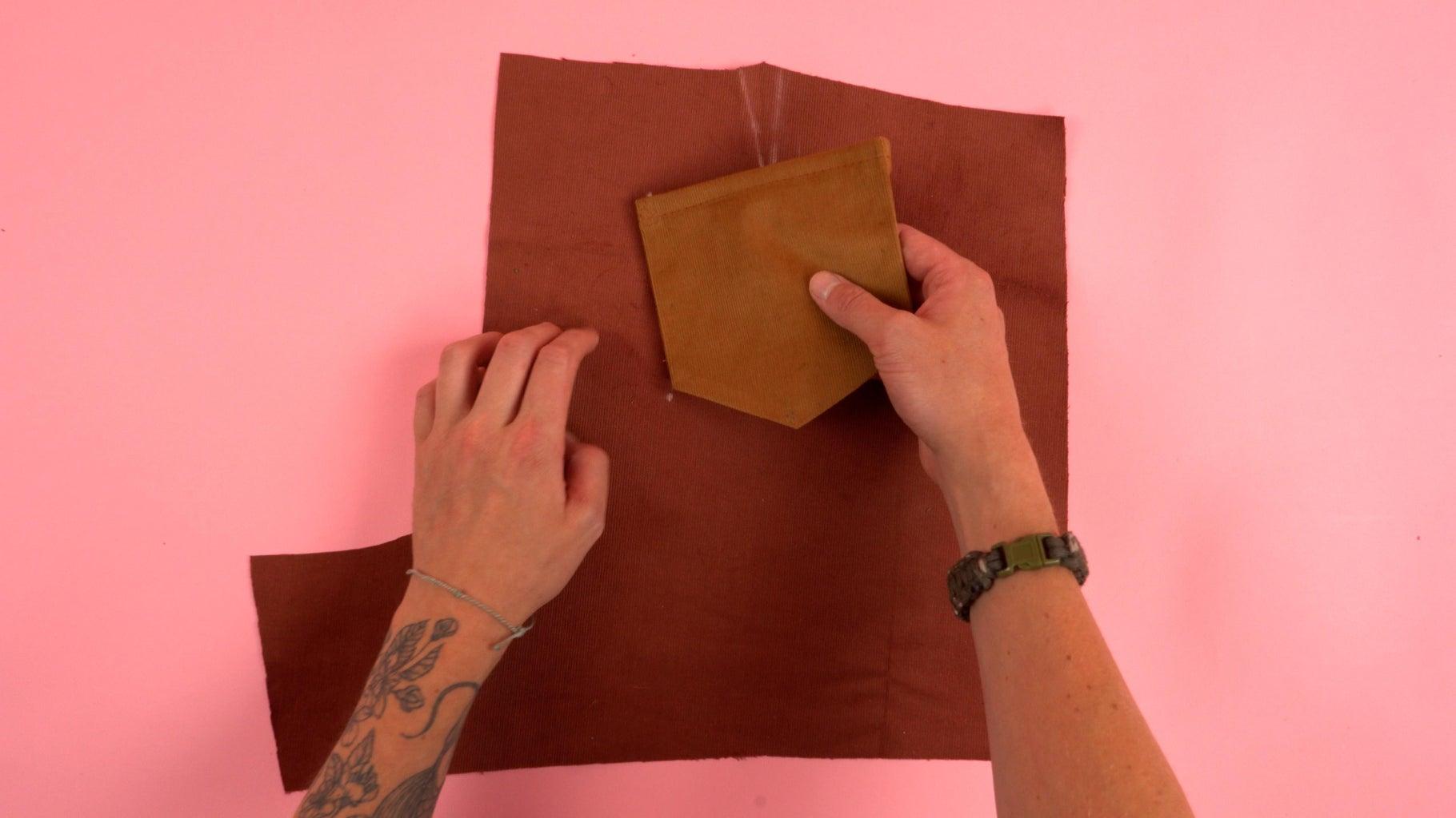 Attaching Back Pocket Panel