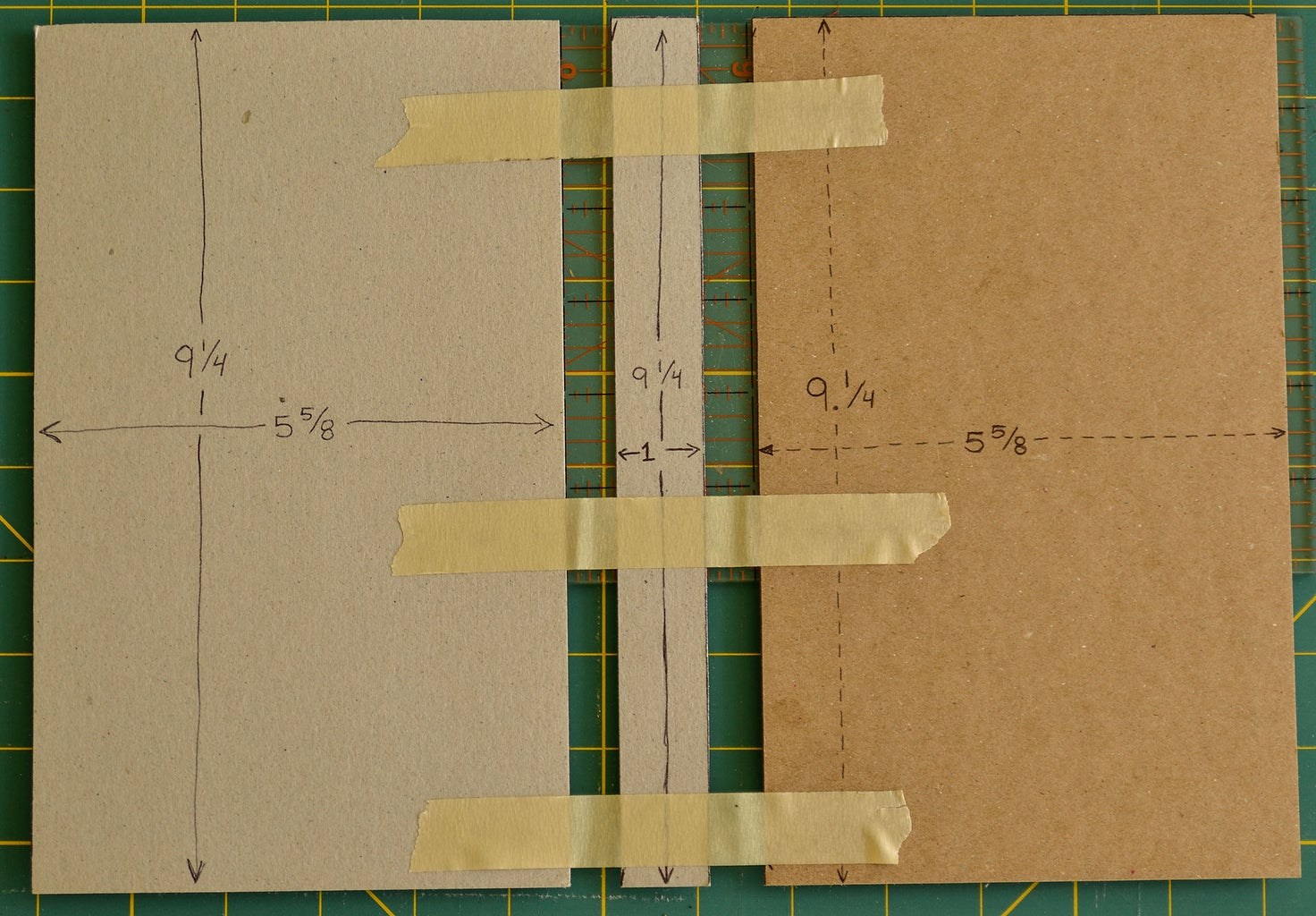 Align Cardboard With Masking Tape