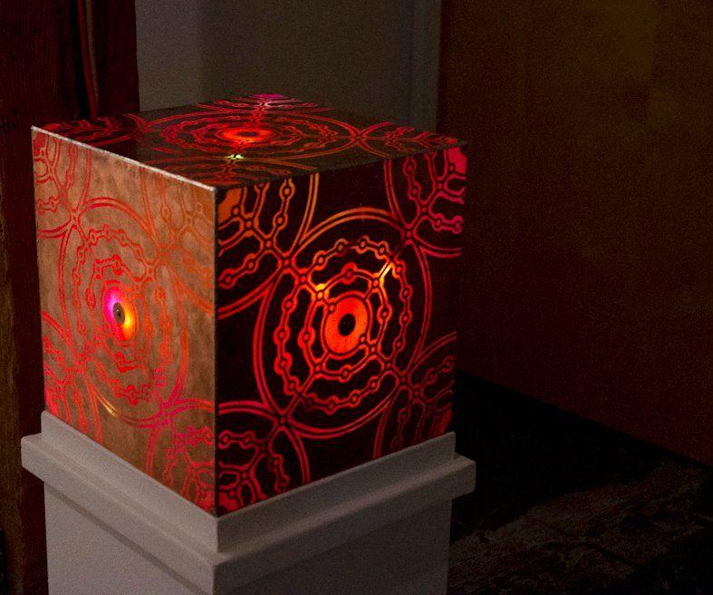 Capacitive Copper Cube Lamp