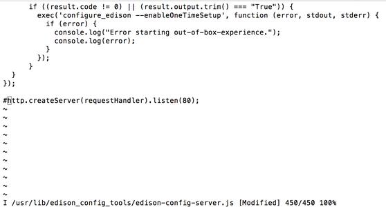 Disable Default Web Server