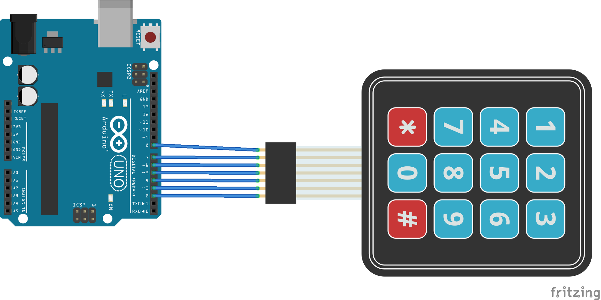 Connect the Keypad With Arduino