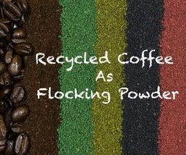 Recycled Coffee As Flocking Powder