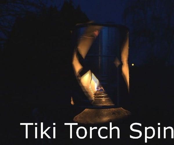 Tiki Torch ~ Spinning Lantern