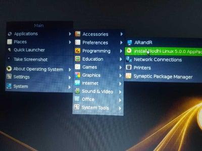 在硬碟上安裝作業系統