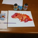 Water Coloring with Fruit Flavored drops