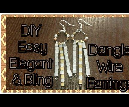 DIY Easy & Elegant Bling Dangle Wire Earrings