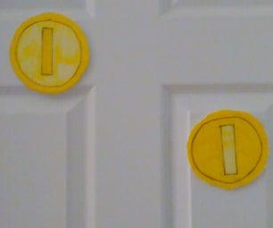 Mario Coin Door Decal