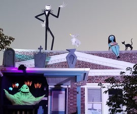 Nightmare Before Christmas Outdoor Halloween Decorations