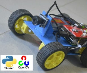 SpyBot: Rpi Robot With Live Camera Feed!! Opencv-tkinter-rpi