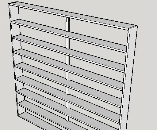 DIY Wooden DVD Shelving