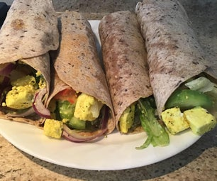 Healthy Cottage Cheese Wrap