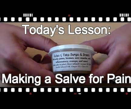 How to Make Salve for Pain