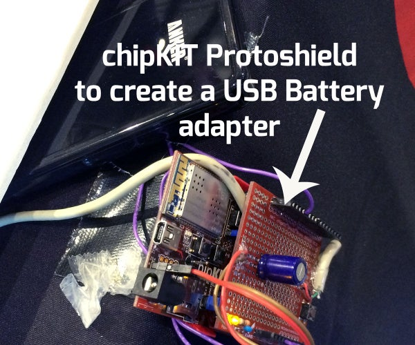 ChipKIT Proto-Shield Adapter for External USB Power Supply