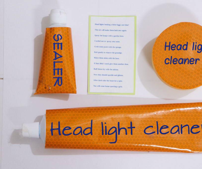 Diy Head Light Cleaner Gift Kit