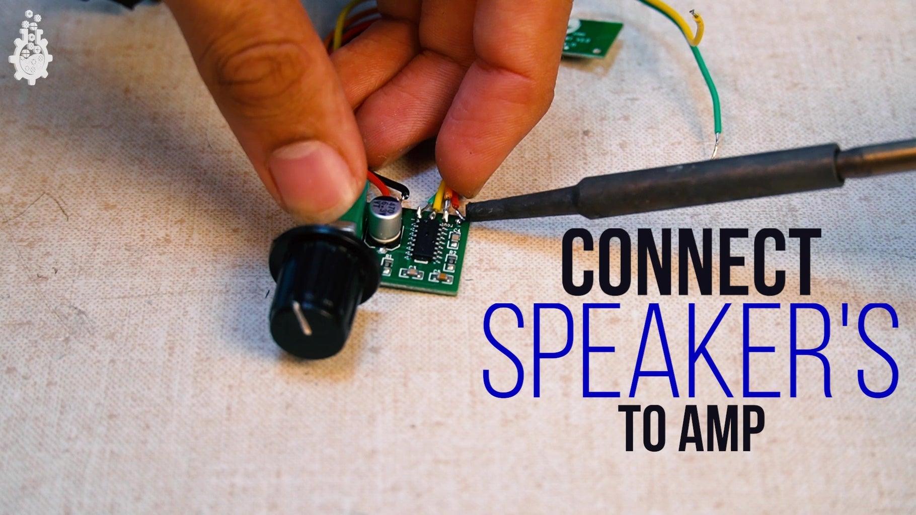Solder the Speaker Wire to Amplifier