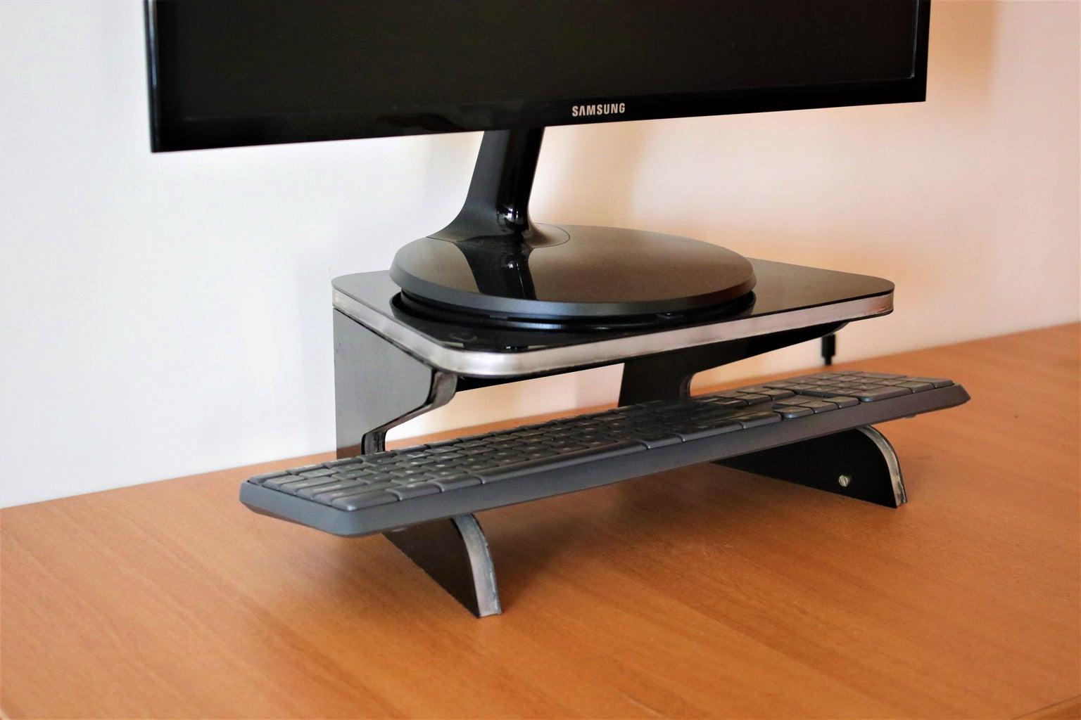 Ergonomic Edge Lit Monitor Stand