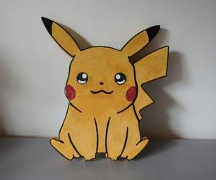 Pikachu Serving Plate -  Coloured Concrete