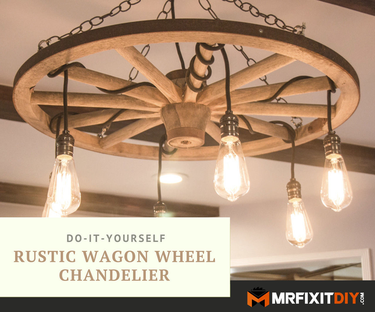 Diy Wagon Wheel Chandelier 5 Steps With Pictures Instructables