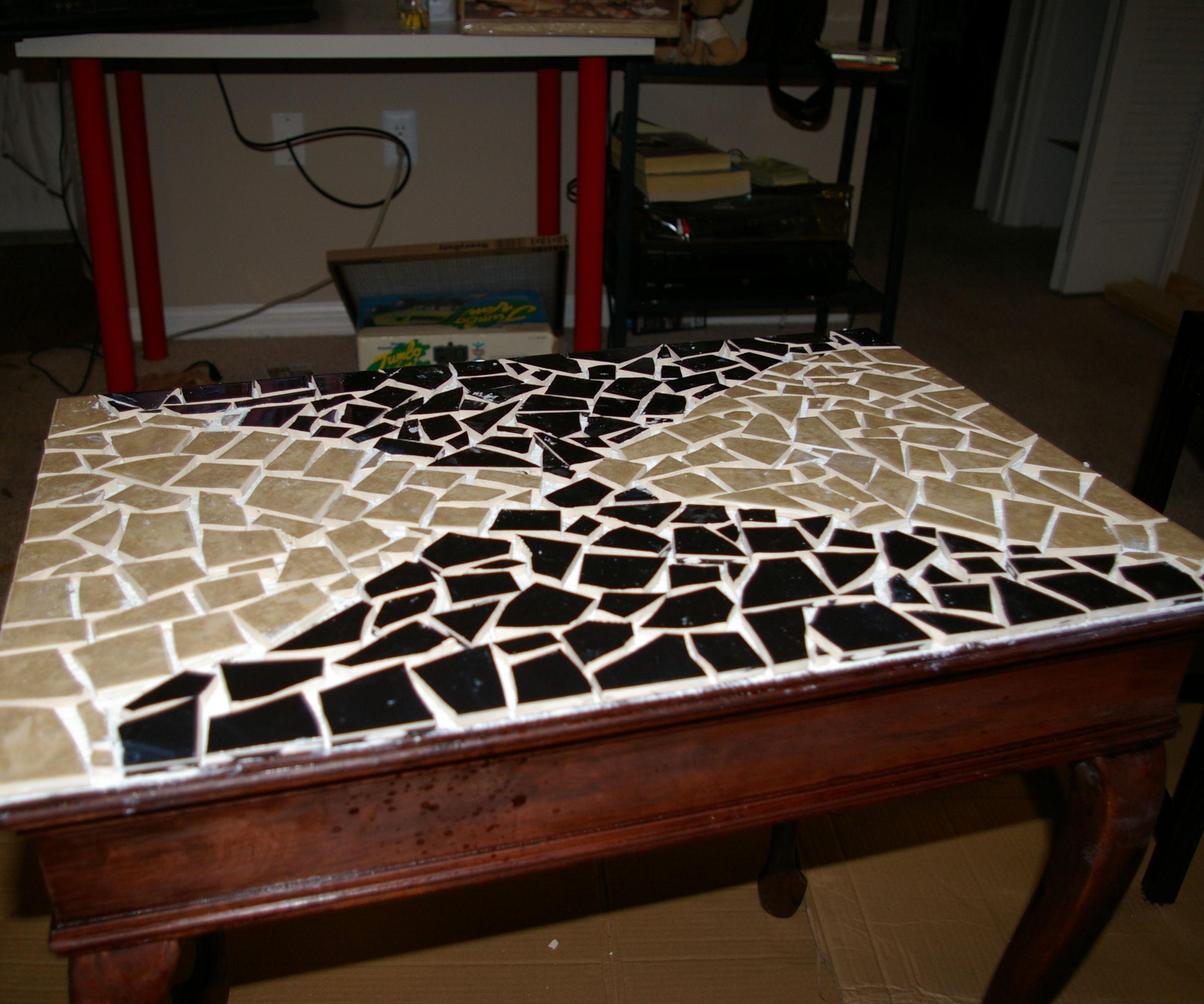 Broken Tile Table