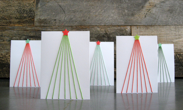 Tree Line DIY Holiday Cards