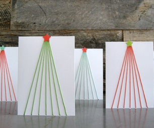 Tree Line DIY Holiday Cards