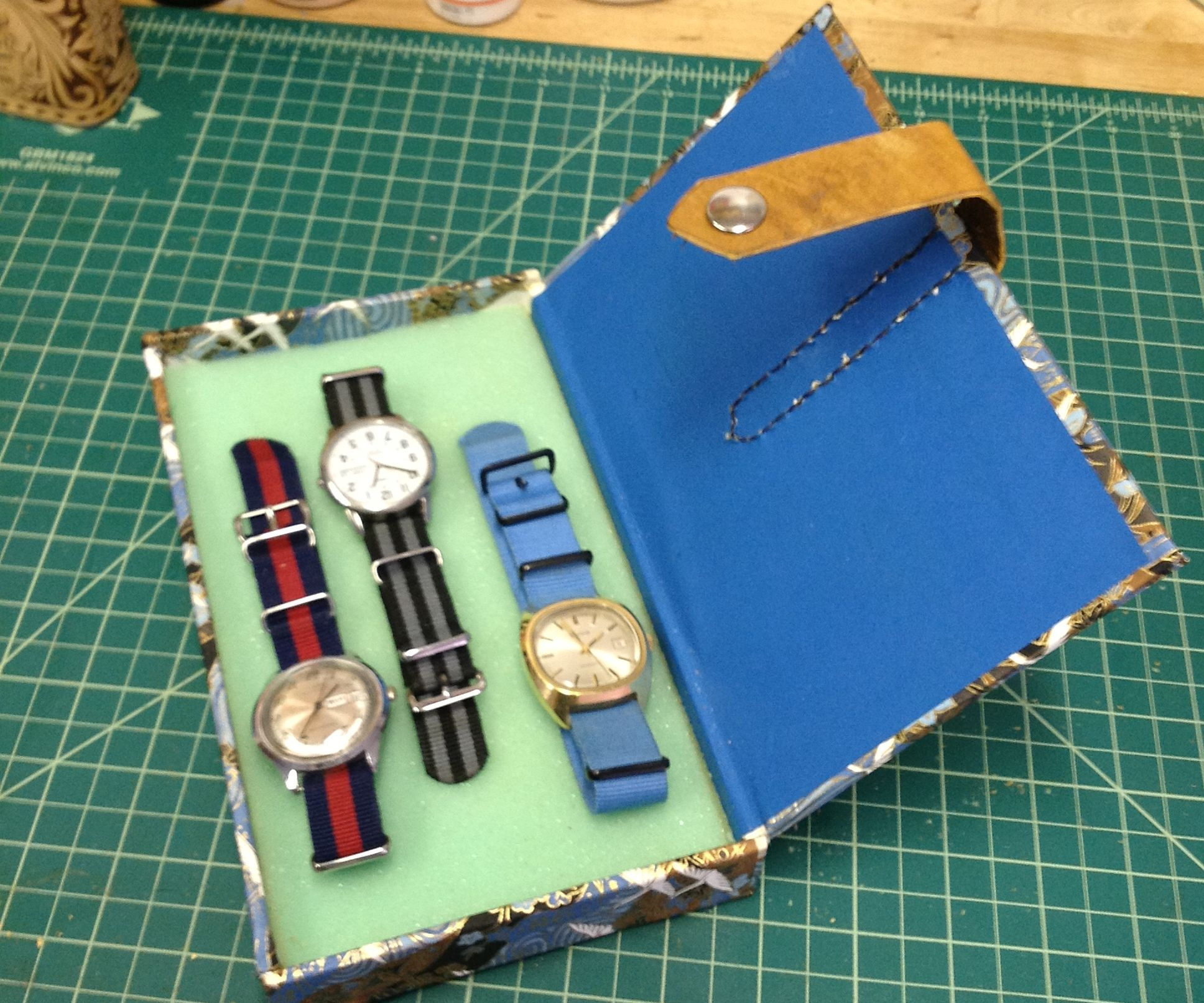 Bookbinding a Watch Case