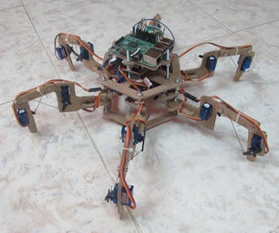 Raspberry Pi Hexapod Wooden Robot.