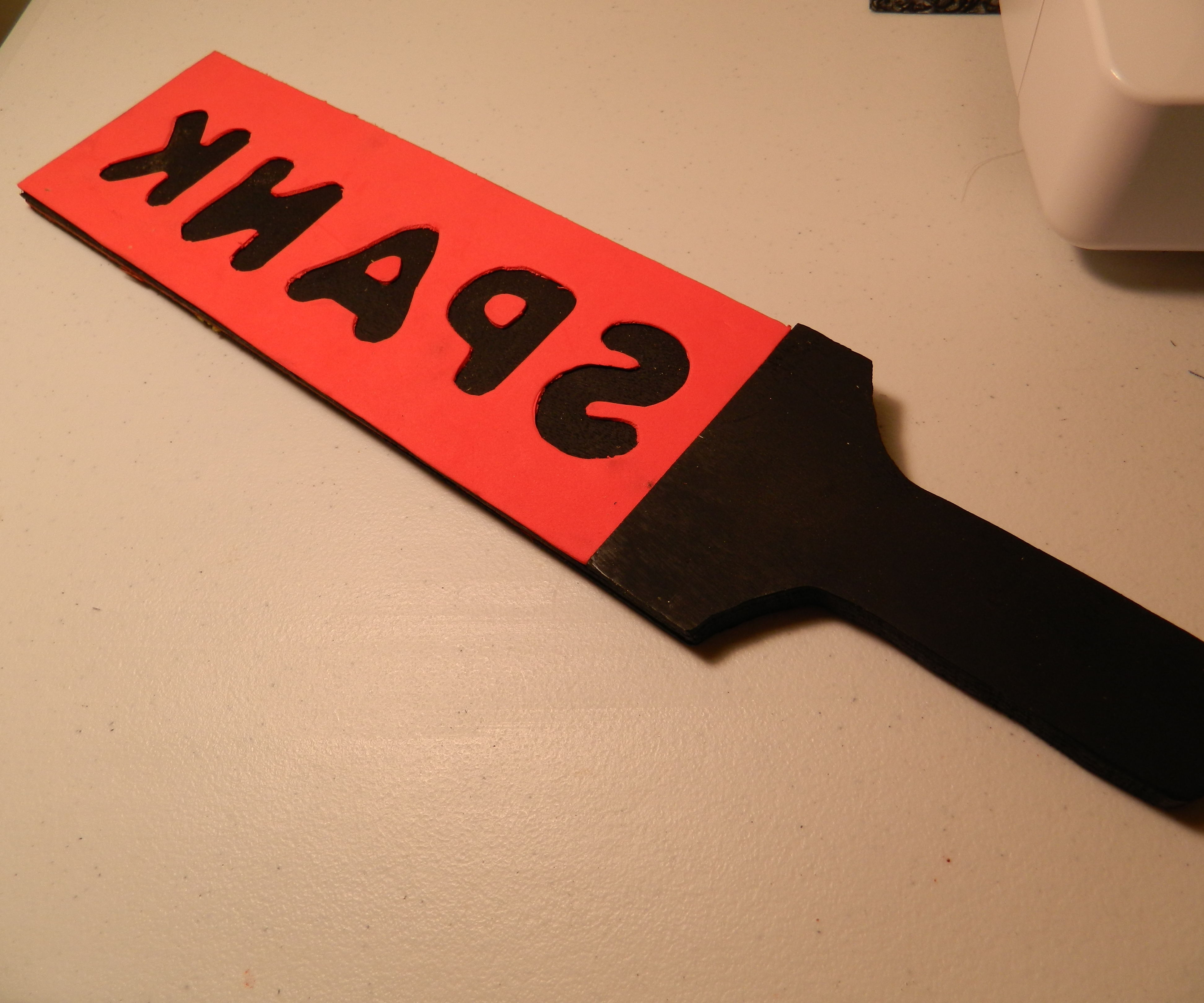 Homemade Paddle, or, How to Make an Impression
