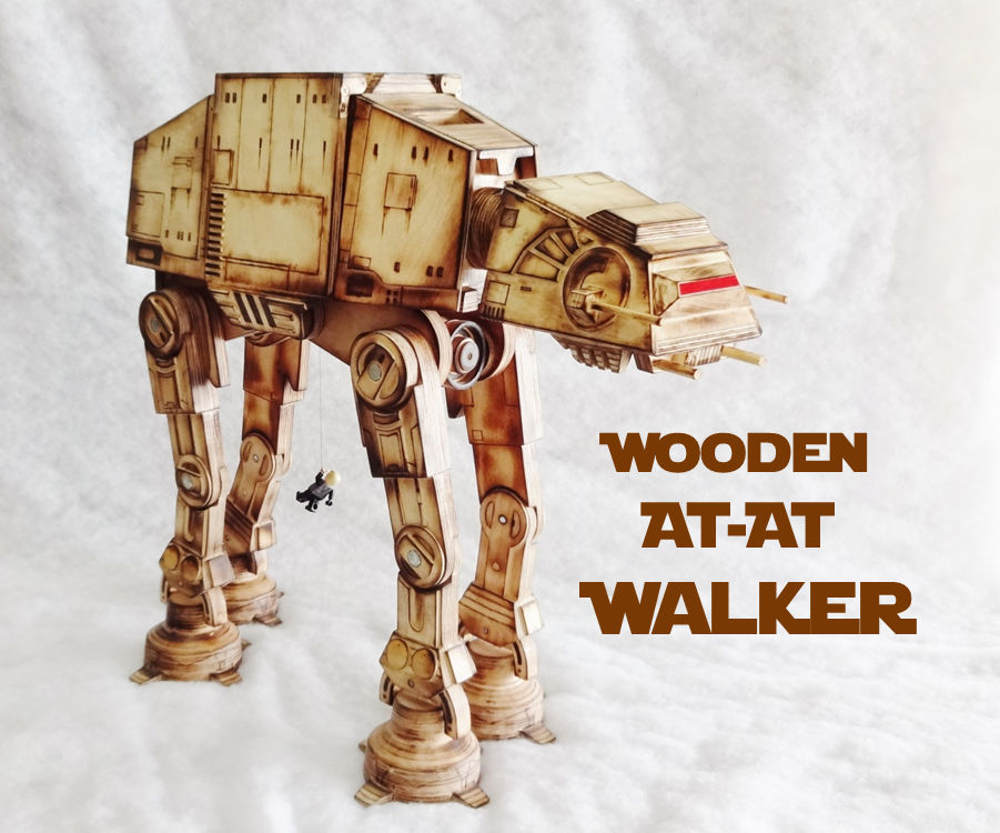 Wooden AT-AT Walker (handmade with common tools!)