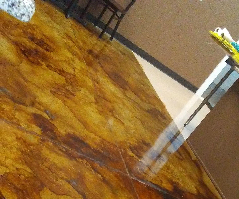 Acetone Dye & Epoxy Floor