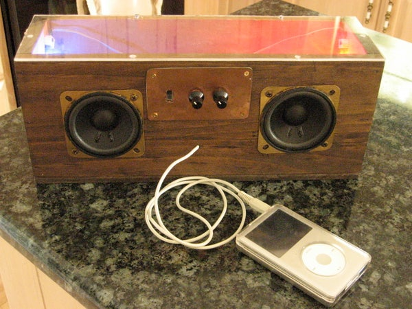 Vintage IPod Speakers (with LEDs!)