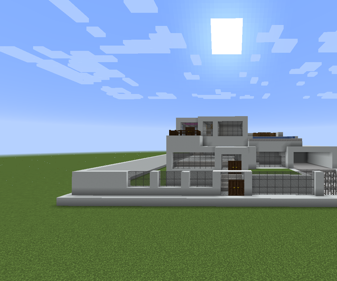 Large Minecraft Modern House 16 Steps Instructables