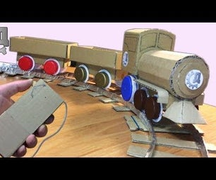 How to Make Electric Remote Train From a Cardboard?