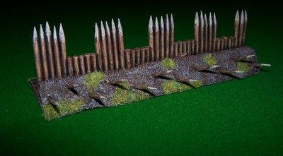 Making Spiked barricades for a rohan gaming table