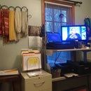 Standing Desk and Laundry Credenza