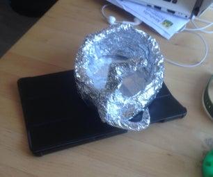 锡箔太阳能烤箱与镜头