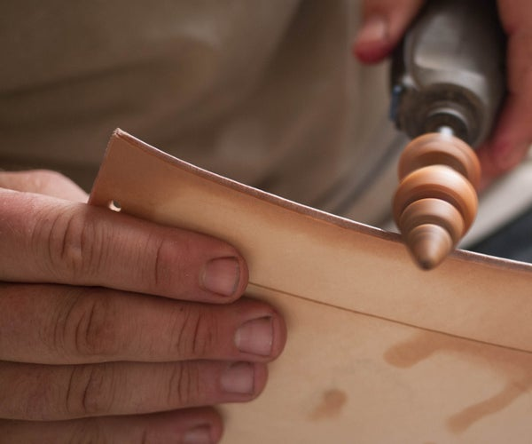Wooden Leather Burnisher