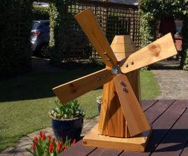 DIY Timber Model Garden Windmill