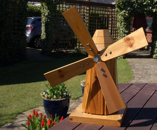 DIY Timber Model Garden Windmill