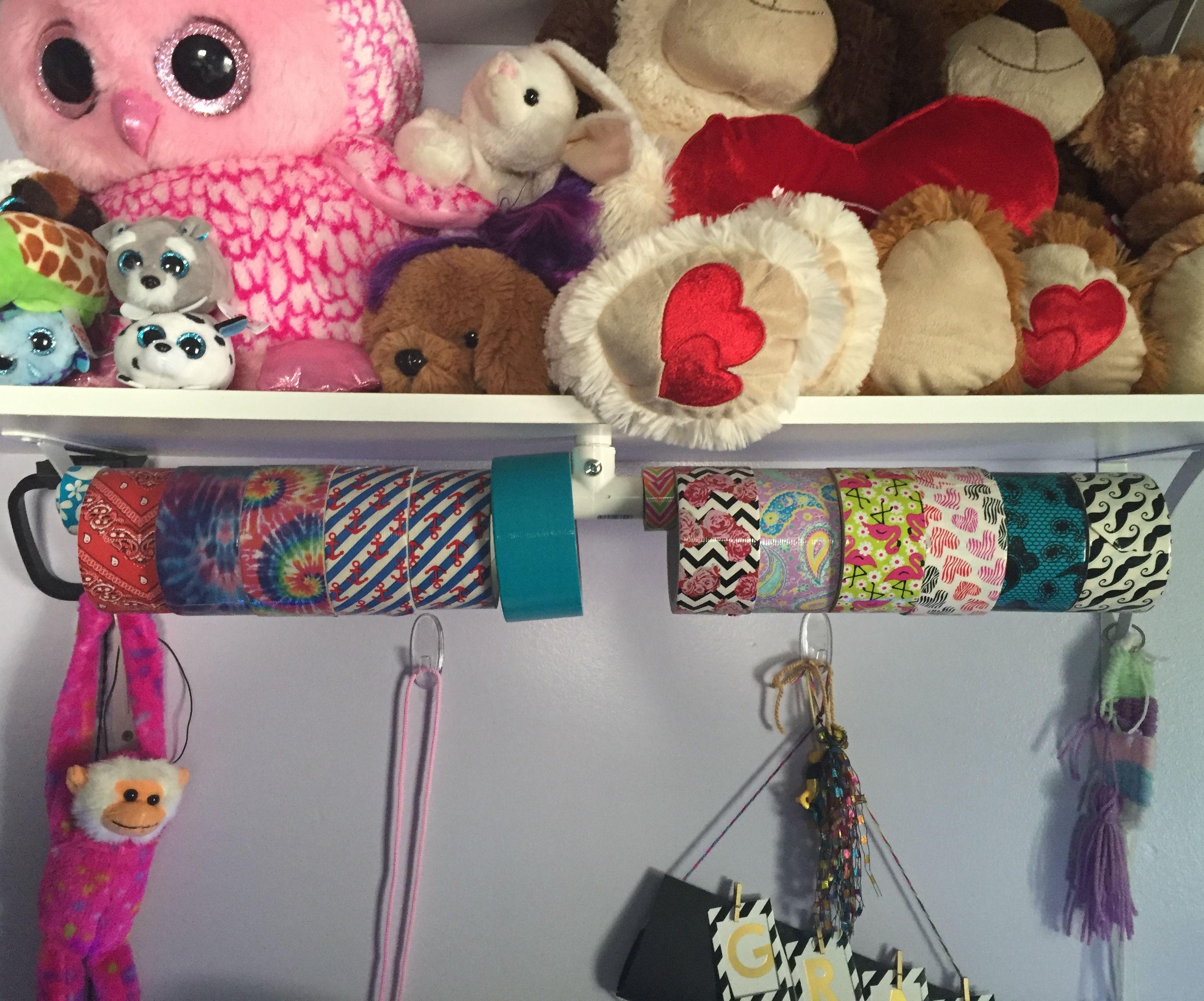 PVC Duct tape rack