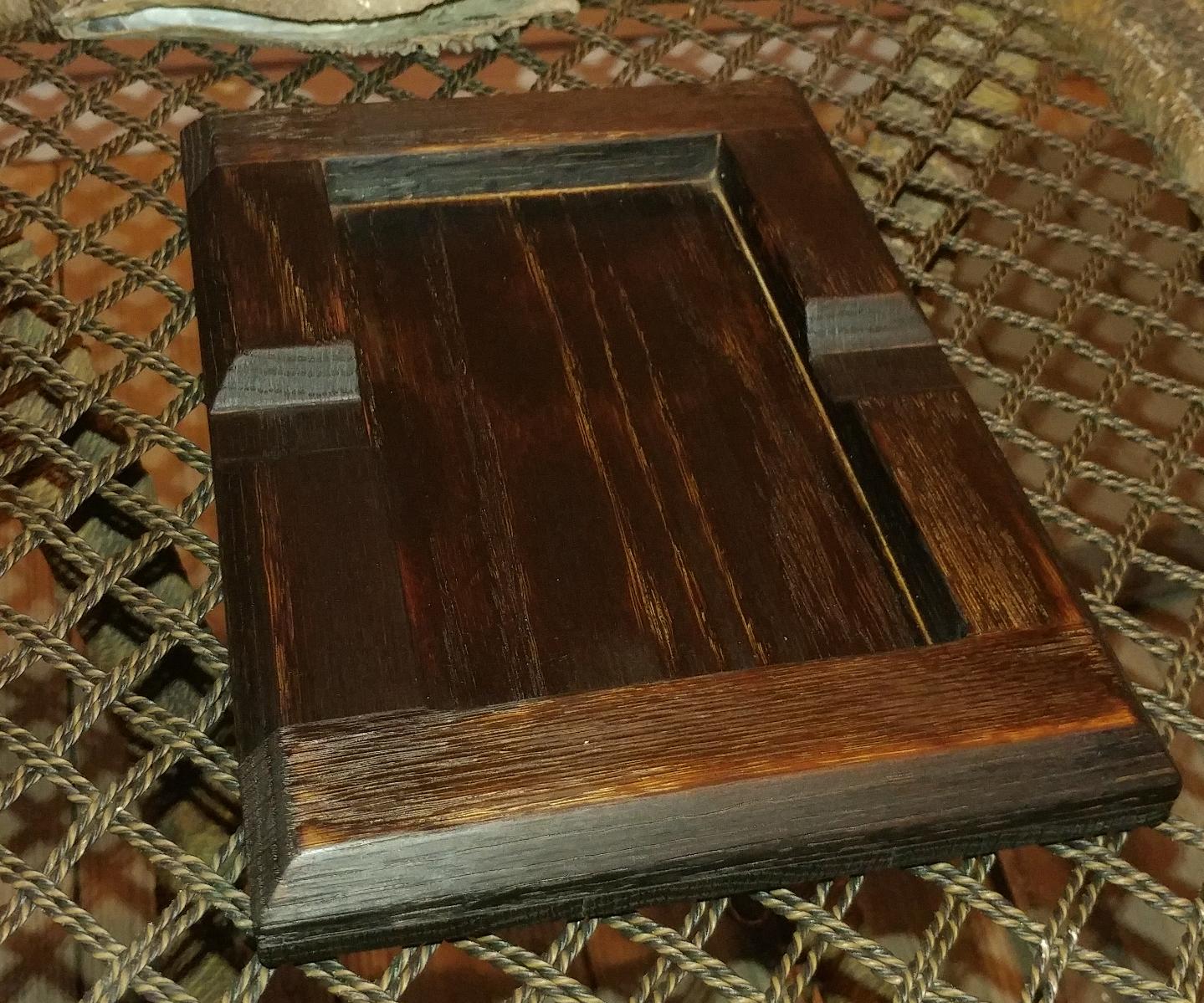 Oak Cigar Ashtray